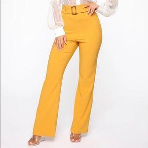 Fashion Nova high waisted business wide leg pants